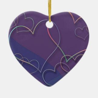 Ornamento cerâmicos do teste padrão dos corações