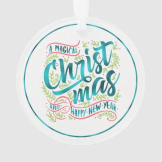 Ornamento Cerceta mágica ID441 da tipografia do Natal