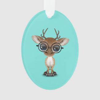 Ornamento Cervos Nerdy do bebê que vestem vidros