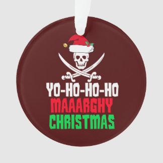Ornamento Chalaça engraçada Yo do Natal do pirata Ho Ho Ho