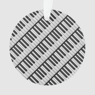 Ornamento Chaves pretas & brancas do piano