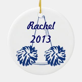 Ornamento Cheerleading dos azuis marinhos feitos