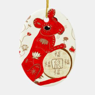 Ornamento chinês da astrologia do rato