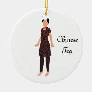 Ornamento chinês da lembrança do chá do Nutcracker