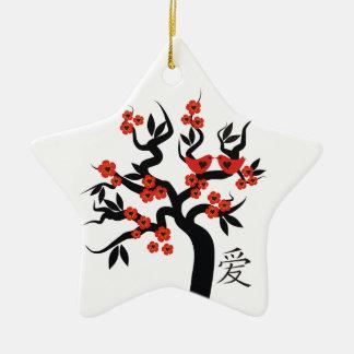 Ornamento chinês do costume do símbolo do amor da