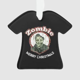 Ornamento ChristmasRetro-Vermelho & verde alegres do zombi