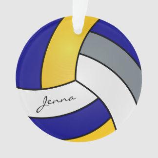 Ornamento Cinzas, branco, ouro e voleibol azul