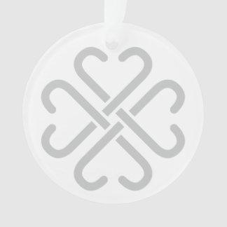 Ornamento cinzento do acrílico do logotipo de