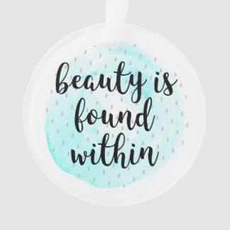Ornamento Citações da beleza da aguarela