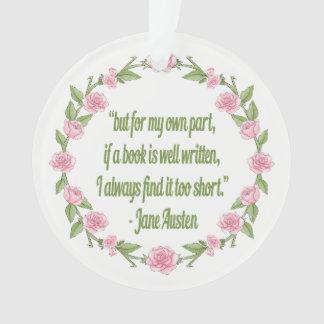Ornamento Citações de Jane Austin para leitores de Bookk