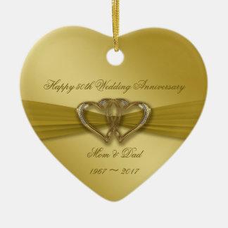 Ornamento clássico do aniversário de casamento do