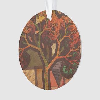 Ornamento Colagem bonita do Fractal de um outono de Origami