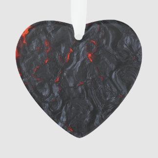 Ornamento colar do pendente do coração da lava dos namorados