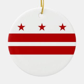 Ornamento com a bandeira do Washington DC