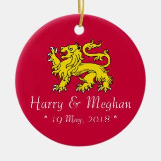 Ornamento comemorativo de Harry & de casamento de