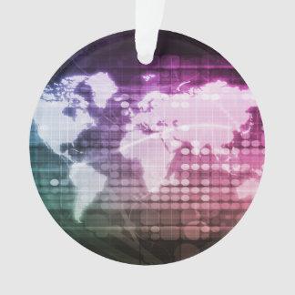 Ornamento Conexão de rede global e sistema integrado