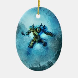Ornamento congelado do cavaleiro