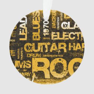 Ornamento Convite de festas da música rock como a arte do