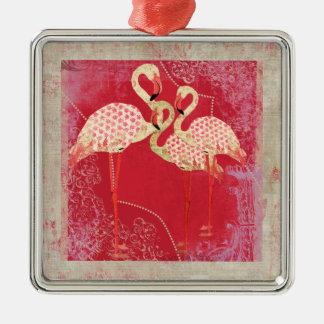 Ornamento cor-de-rosa bonito dos flamingos