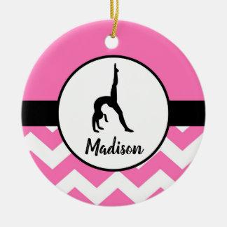 Ornamento cor-de-rosa da ginástica