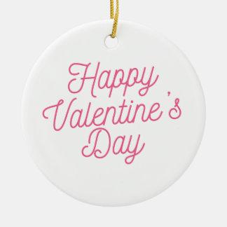 Ornamento cor-de-rosa do feliz dia dos namorados |