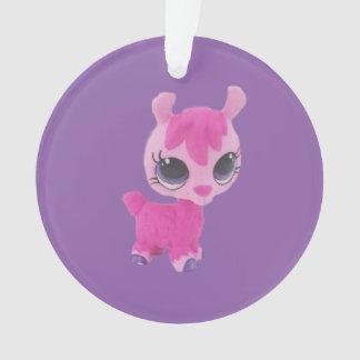 Ornamento cor-de-rosa do lama