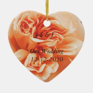 Ornamento cor-de-rosa do tema do casamento do