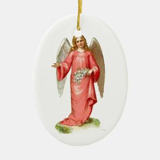 Ornamento cor-de-rosa dos anjos do Victorian