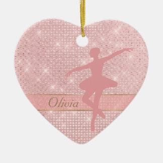 Ornamento cor-de-rosa dos namorados da bailarina
