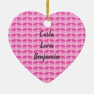 Ornamento cor-de-rosa dos namorados do impressão