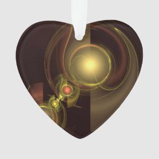 Ornamento Coração íntimo do acrílico da arte abstracta da