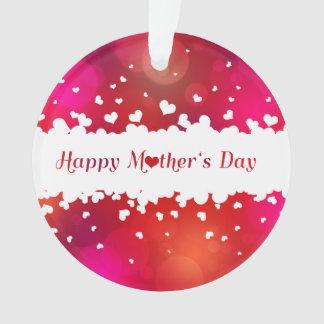 Ornamento Corações felizes bonitos do dia das mães -
