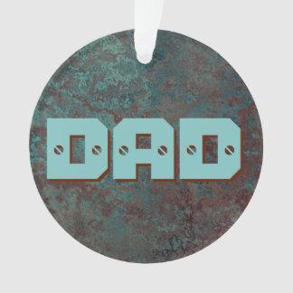 """Ornamento Corrosão círculo acrílico do PAI """"de cobre"""" do"""