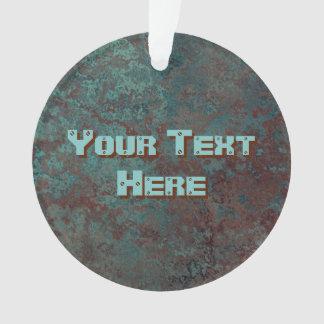 """Ornamento Corrosão círculo acrílico do texto """"de cobre"""" do"""