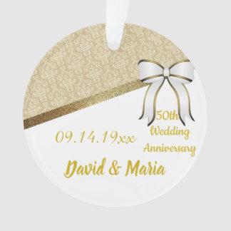 Ornamento Costume, aniversário de casamento do ouro (50th).