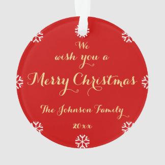 Ornamento Criar o Feliz Natal elegante personalizado costume