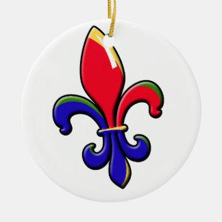 Ornamento crioulo da flor de lis