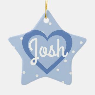 Ornamento Customisable/ø do coração do Natal da