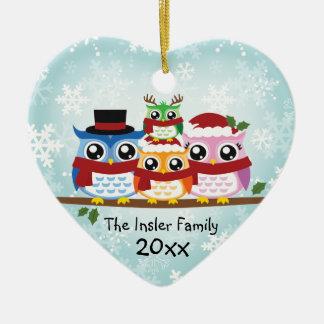 Ornamento customizável do coração da família da