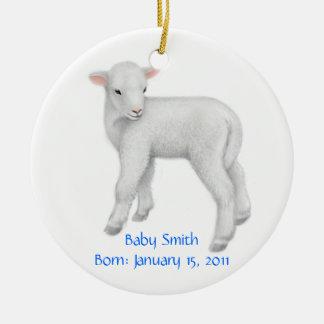 Ornamento customizável do cordeiro