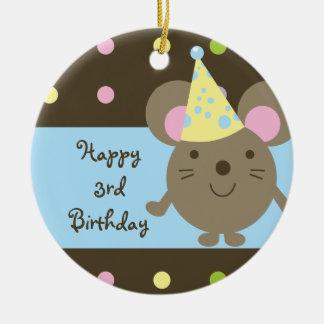Ornamento customizável do feliz aniversario do