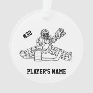Ornamento customizável do Goaltender do hóquei