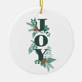 Ornamento da alegria da folha do inverno com foto