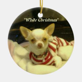 """Ornamento da árvore da chihuahua do """"White"""
