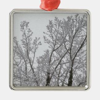 Ornamento da árvore da neve