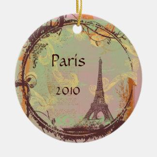 Ornamento da árvore de Natal da torre Eiffel