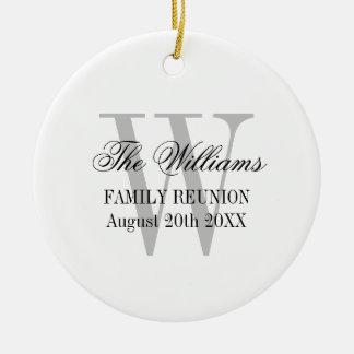 Ornamento da árvore de Natal do monograma da