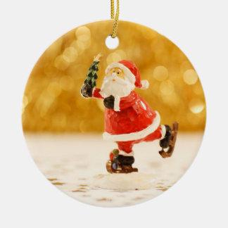 Ornamento da árvore de Natal do papai noel