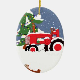 Ornamento da árvore de Natal do trator