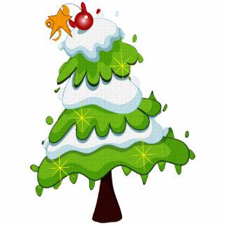 Ornamento da árvore de Natal Foto Esculturas